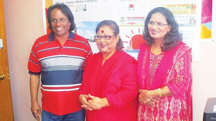 প্রয়াত শিল্পী জানে আলম, দিলরুবা খান ও চন্দনা মজুমদার