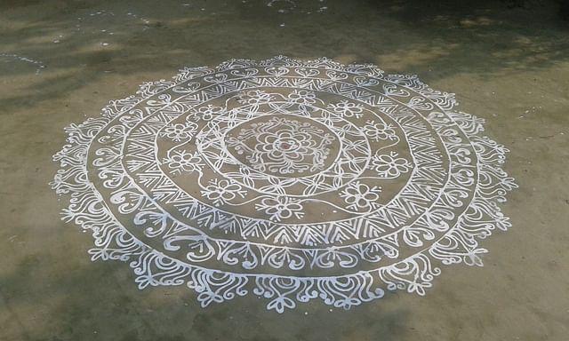 নবান্নের আলপনা, পাঁচুপুর, আত্রাই, নওগাঁ
