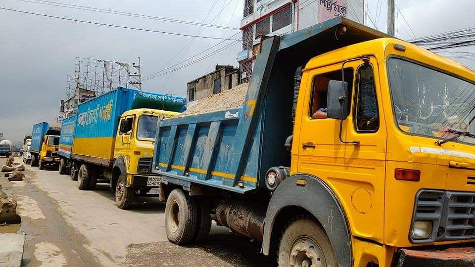 গাজীপুরে ঢাকা-ময়মনসিংহ মহাসড়কে দীর্ঘ যানজট, ভোগান্তি   প্রথম আলো
