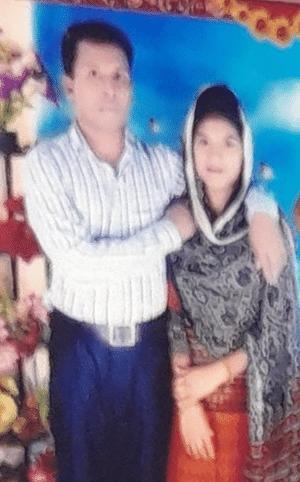 স্বামী আবুল বাশারের সঙ্গে রাবেয়া: