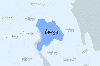 চাঁদপুর জেলার মানচিত্র
