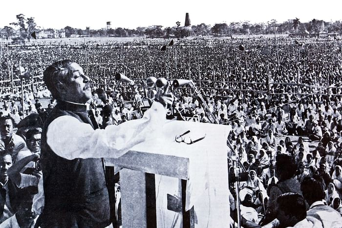 Bangabandhu delivers his historic speech on 7 March 1971