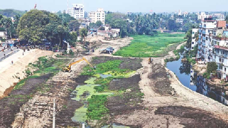 Predicament of Bhairab river in Jessore town