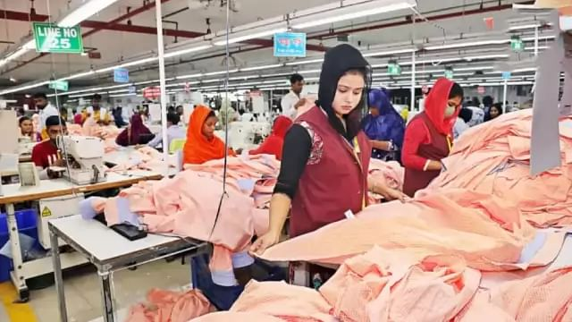 Readymade garments factory workers are at work