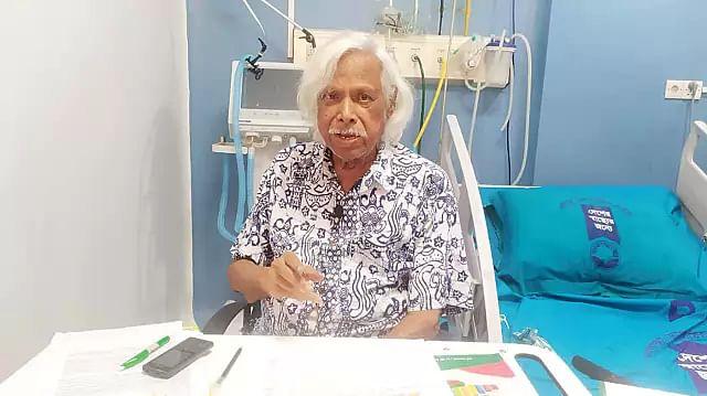 Zafrullah Chowdhury, after recovering from coronavirus