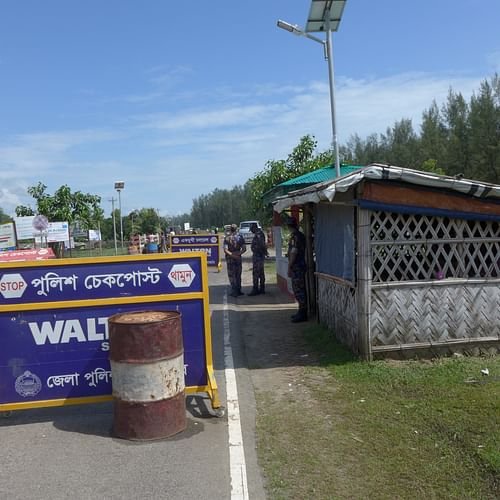 This is the Shamlapur police check post where retired army major Sinha Mohammad Rashed Khan was shot dead