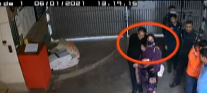 GM Tushar and the woman were seen laughing at the CCTV footage.