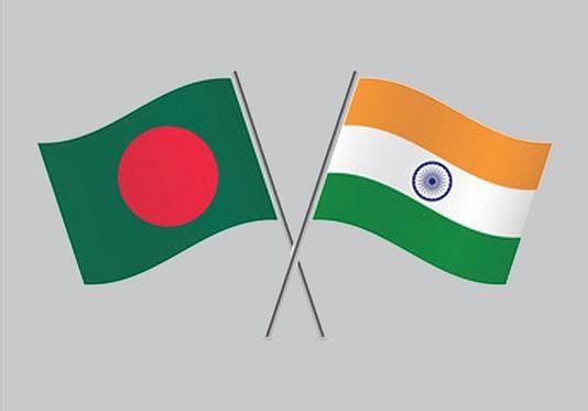 Flags of Bangladesh and India