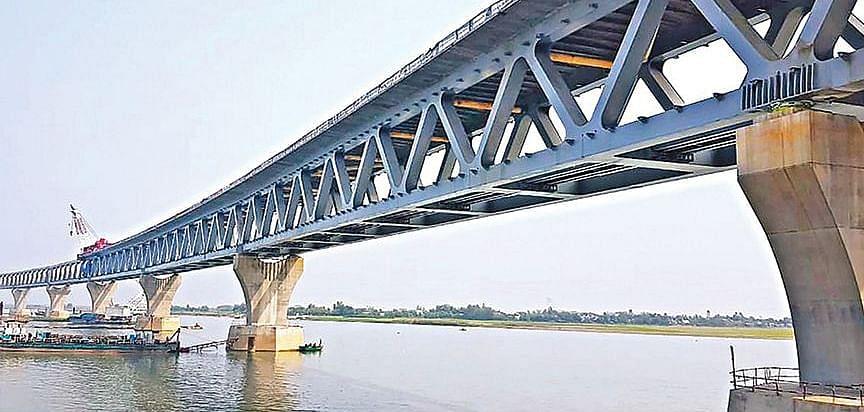 A part of Padma Bridge