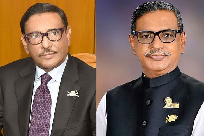 Obaidul Quader (L) and Quader Mirza (R)