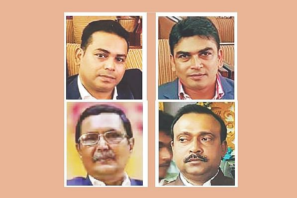Clockwise from top left: Sajjad Hossain Barkat, Imtiaz Hasan Rubel, AHM Fuad and Mohtesham Hossain Babar