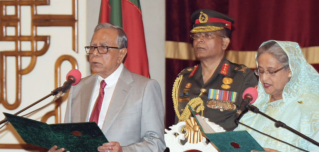 Sheikh Hasina takes oath as prime minister for fourth term on 7 January 2019