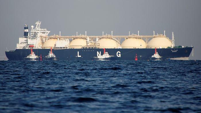 A representational image. A liquefied natural gas (LNG) tanker.